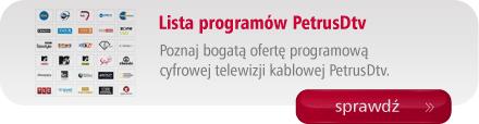Lista programów dostępnych w PetrusDtv